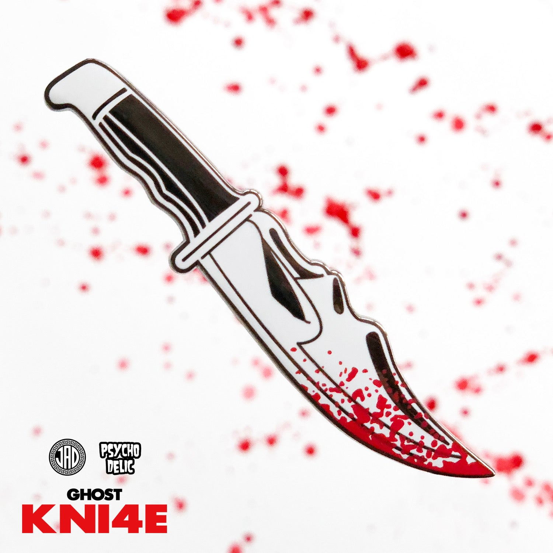 Image of Ghost Knife (Blood Splatter Edition) Enamel Pin