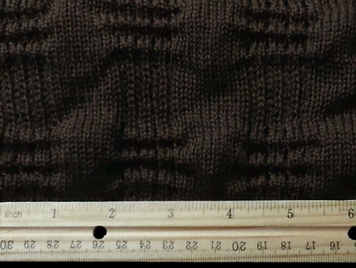 Image of Wool Textured Washington Square Chocolate Knit (by the half yard)