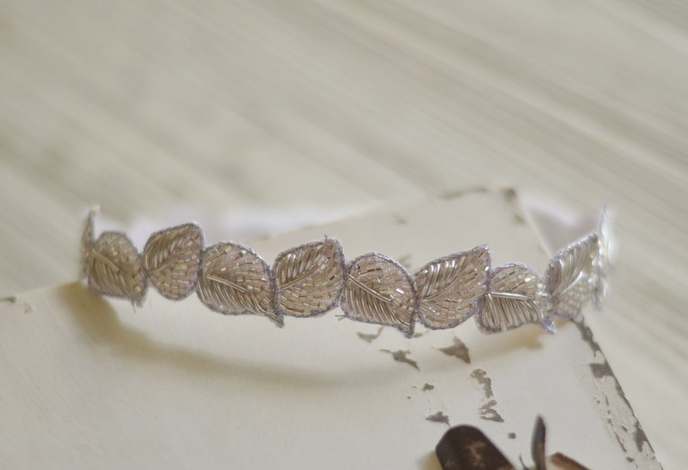 Image of Leaves and beads headband