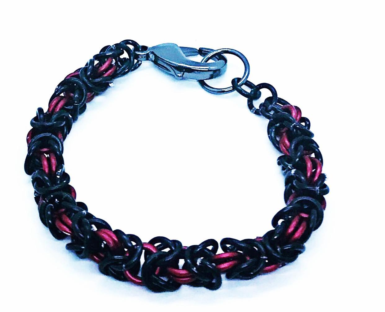 Image of Dark fire-Men's Box chain bracelet