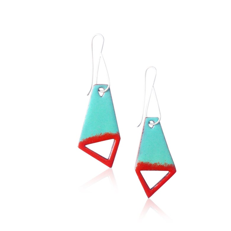 Image of big kite cut-out earrings