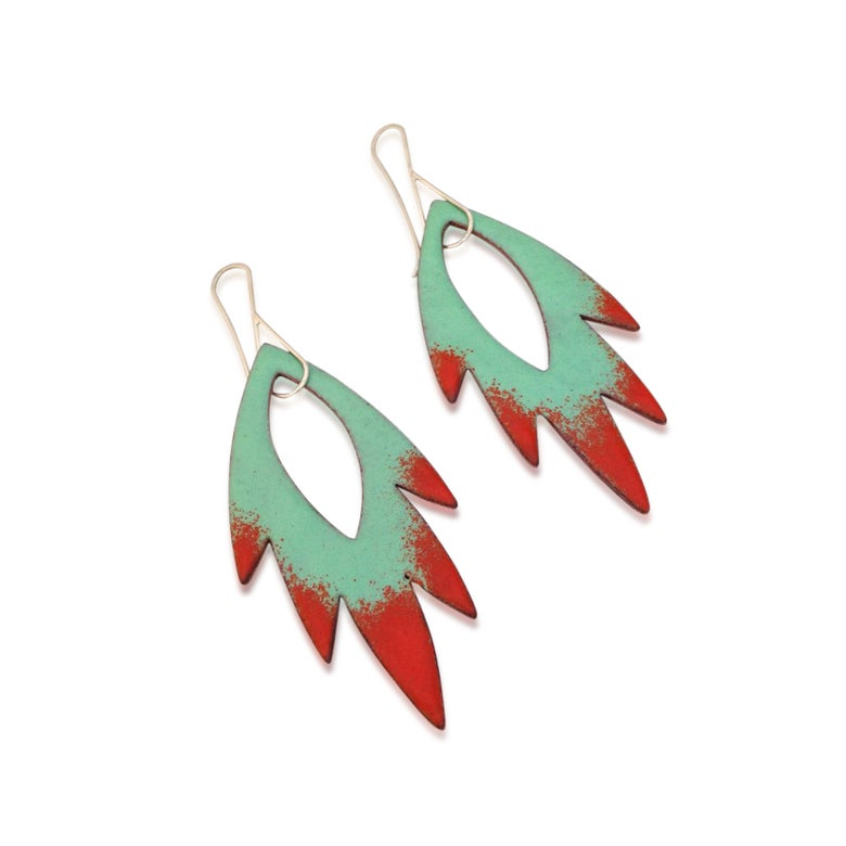 Image of petal-flame-earrings