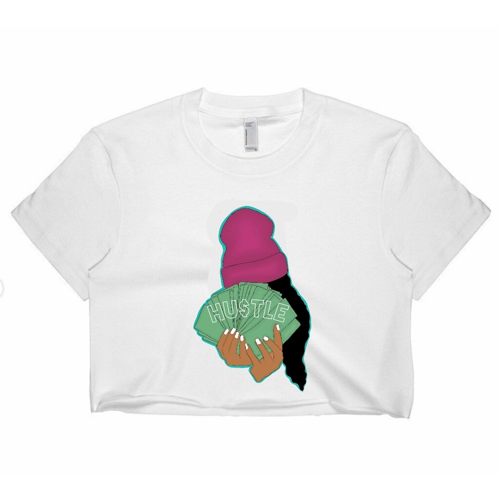 Image of Hustle tee cropped