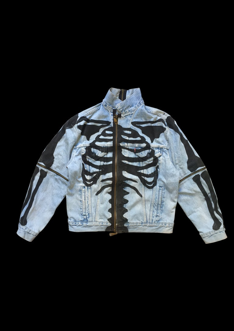Image of SKELETON DENIM JACKET