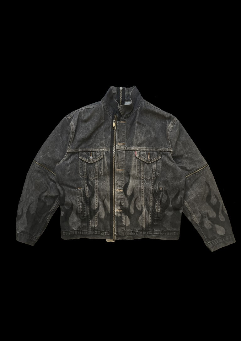 Image of DARK FLAME DENIM JACKET