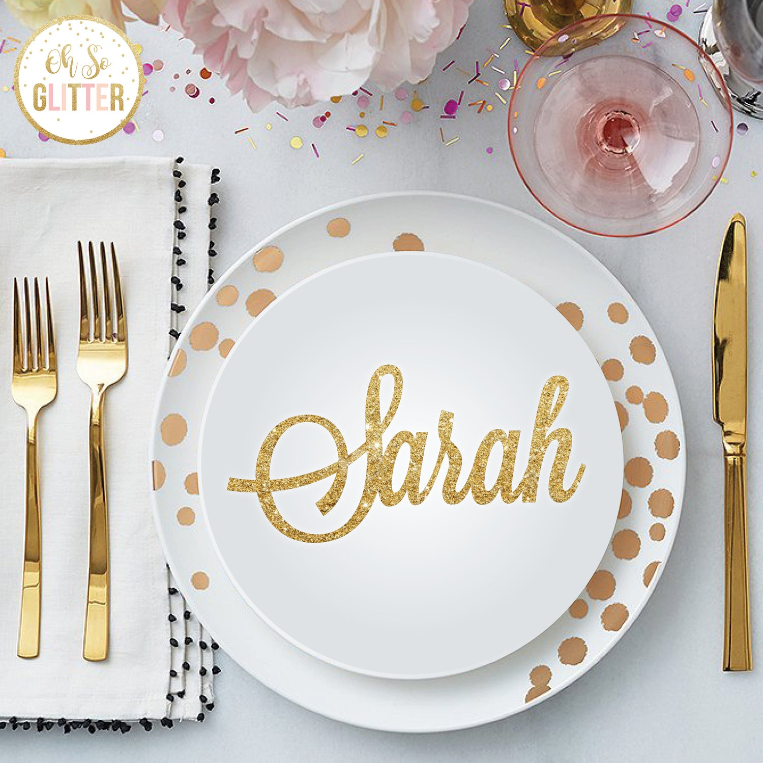 Image of Customised Name Place settings