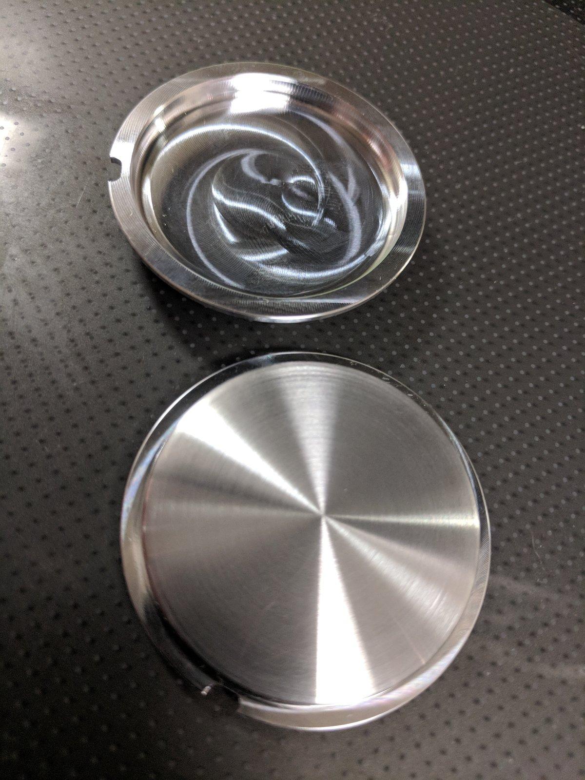 Custom aluminum Momo horn button