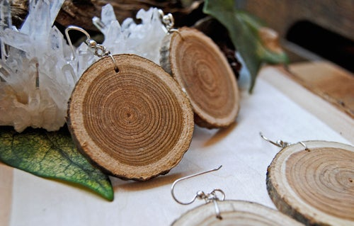Image of Wood slice earrings