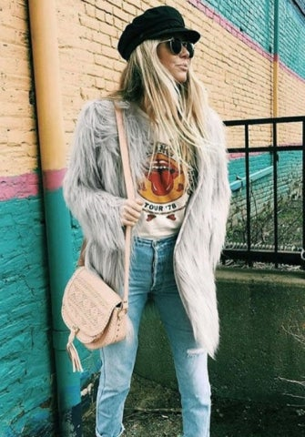 Image of Icy Faux Fur Jacket