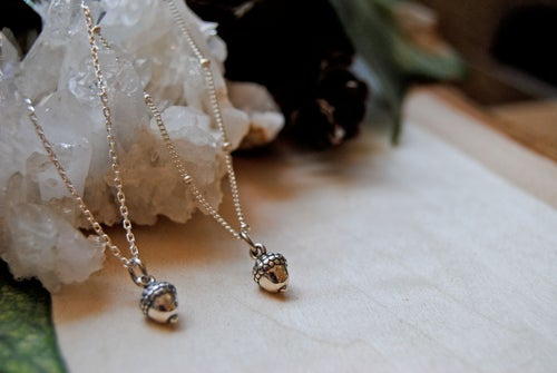 Image of Baby Acorn Necklace