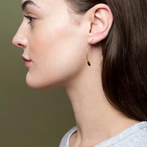 Image of Black bead hoops