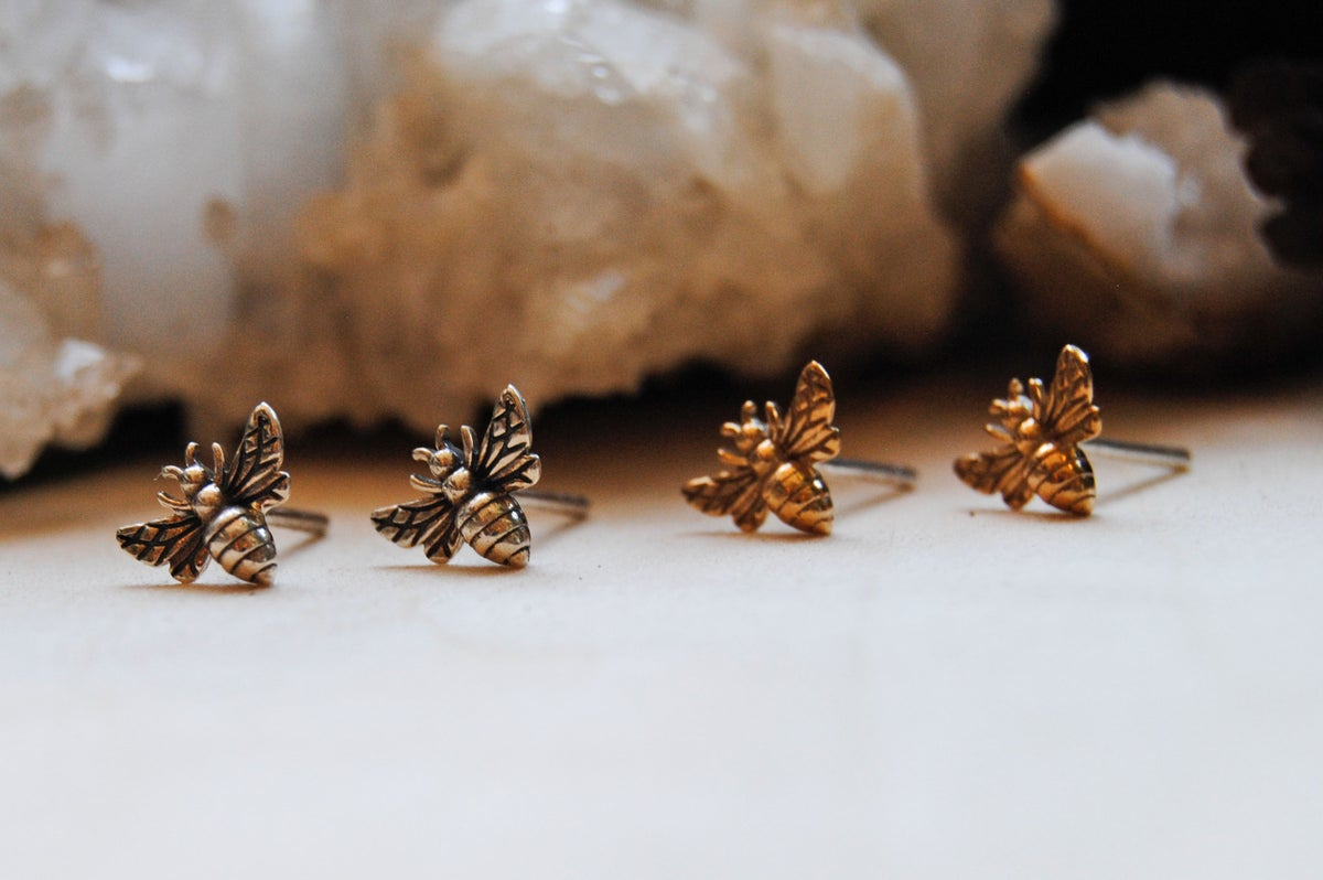 Image of Honey Bee Stud Earrings