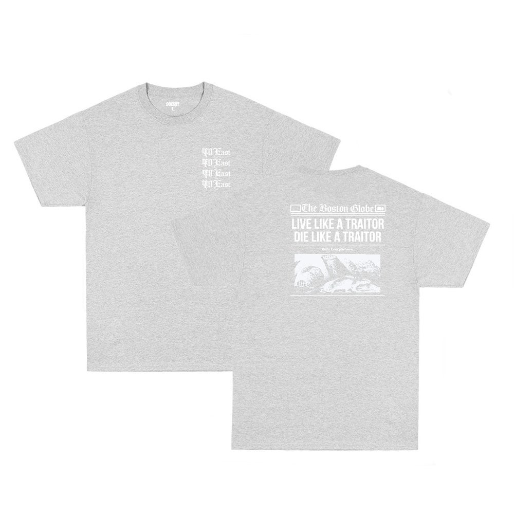 Image of 90East Globe Tee - Grey