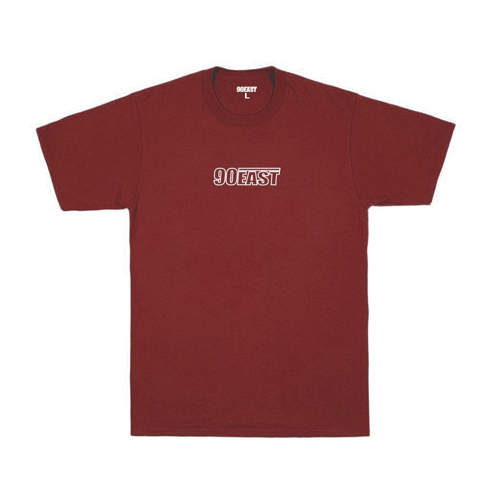 Image of 90East Wire Tee - Burgundy