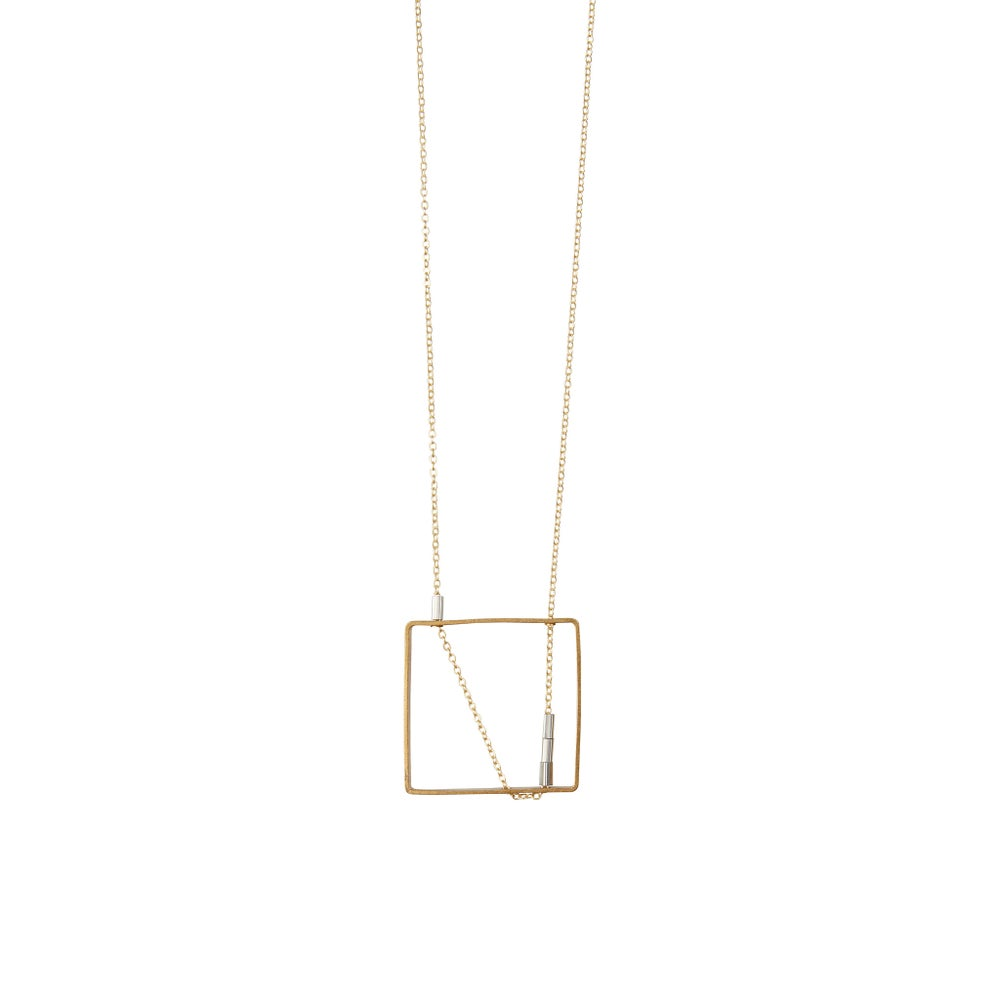 Image of Long square necklace