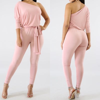 Image of Drape blush jumpsuit