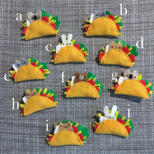 Image of taco friend brooches // october 2018