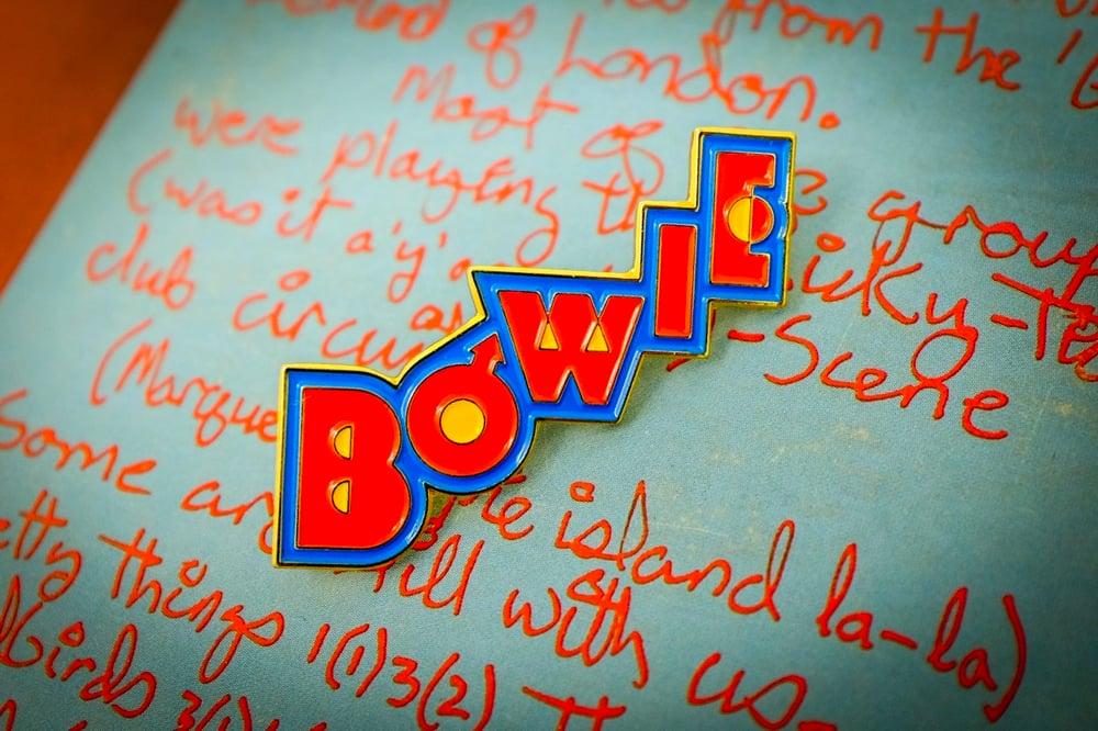 Image of David Bowie - Pin Ups Logo Enamel Pin