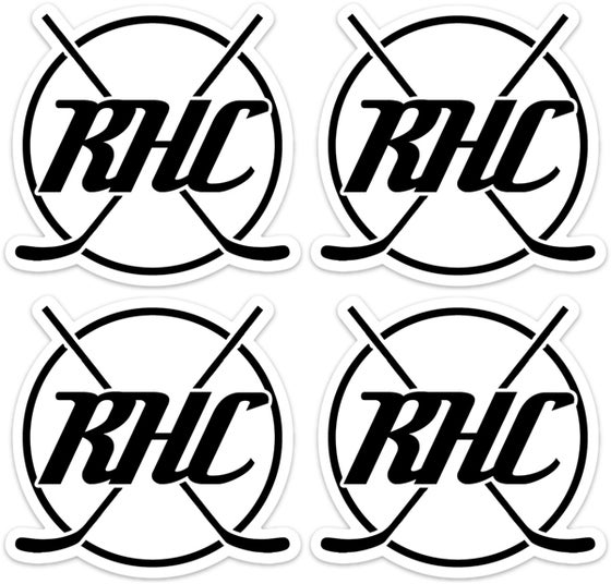 Image of RHC Logo Helmet Sticker - 4 Pack - Free Shipping