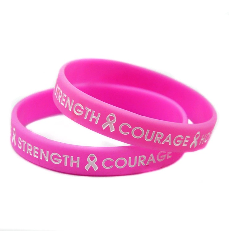 Image of Breast Cancer Awareness Silicone Wristband