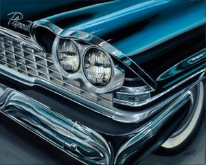 Image of Plymouth Chrome  / Giclee Canvas Wrap