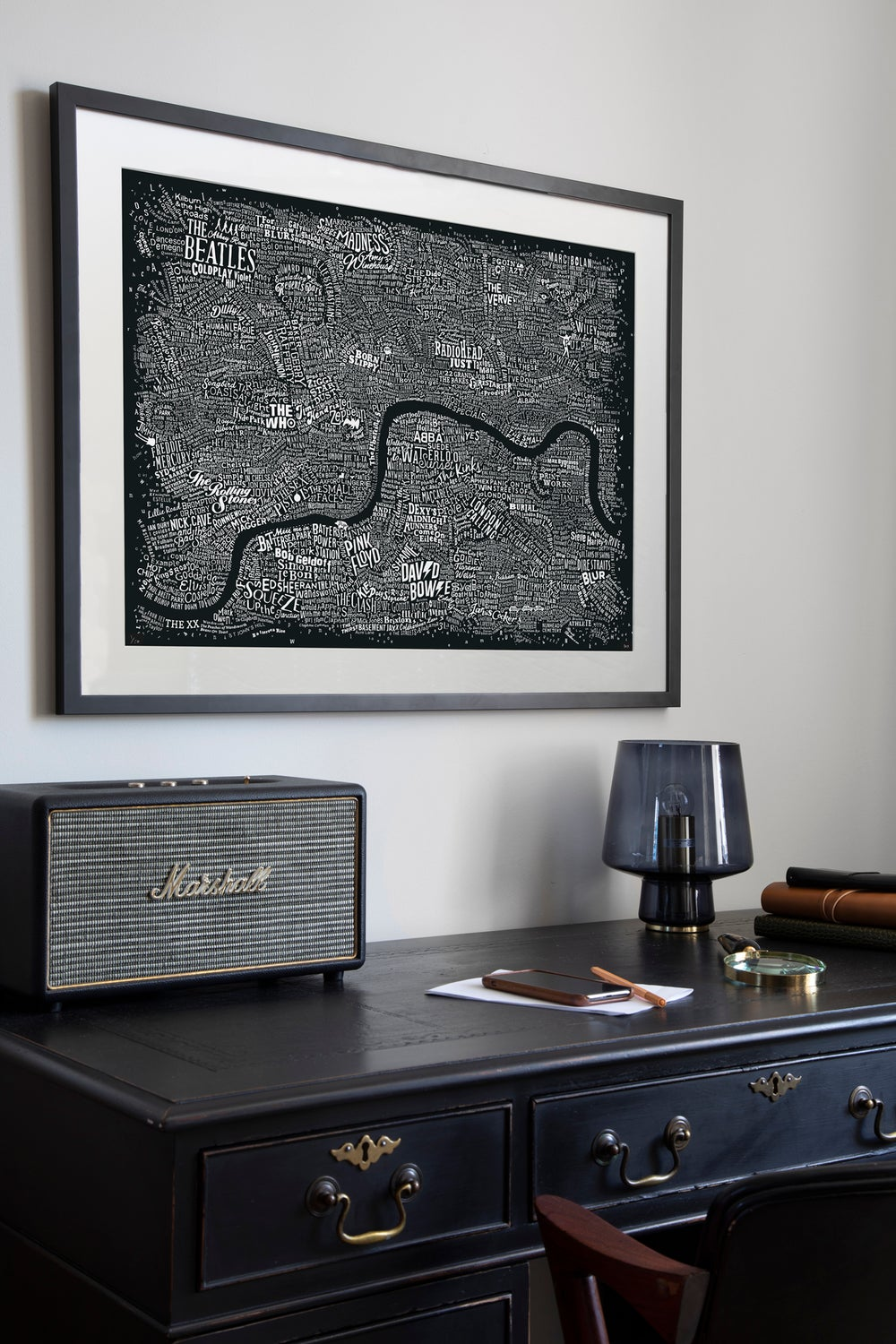Music Map Of London (Black)
