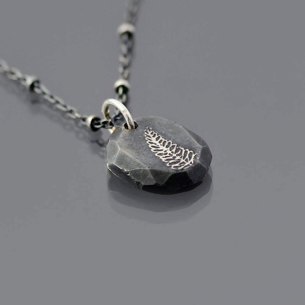 Image of Sterling Silver Fern Nugget Necklace