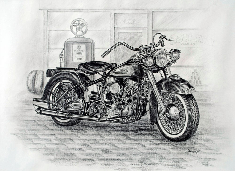 Image of Vintage Motorcycle (original)