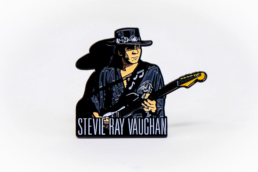 Image of Stevie Ray Vaughan Enamel Pin