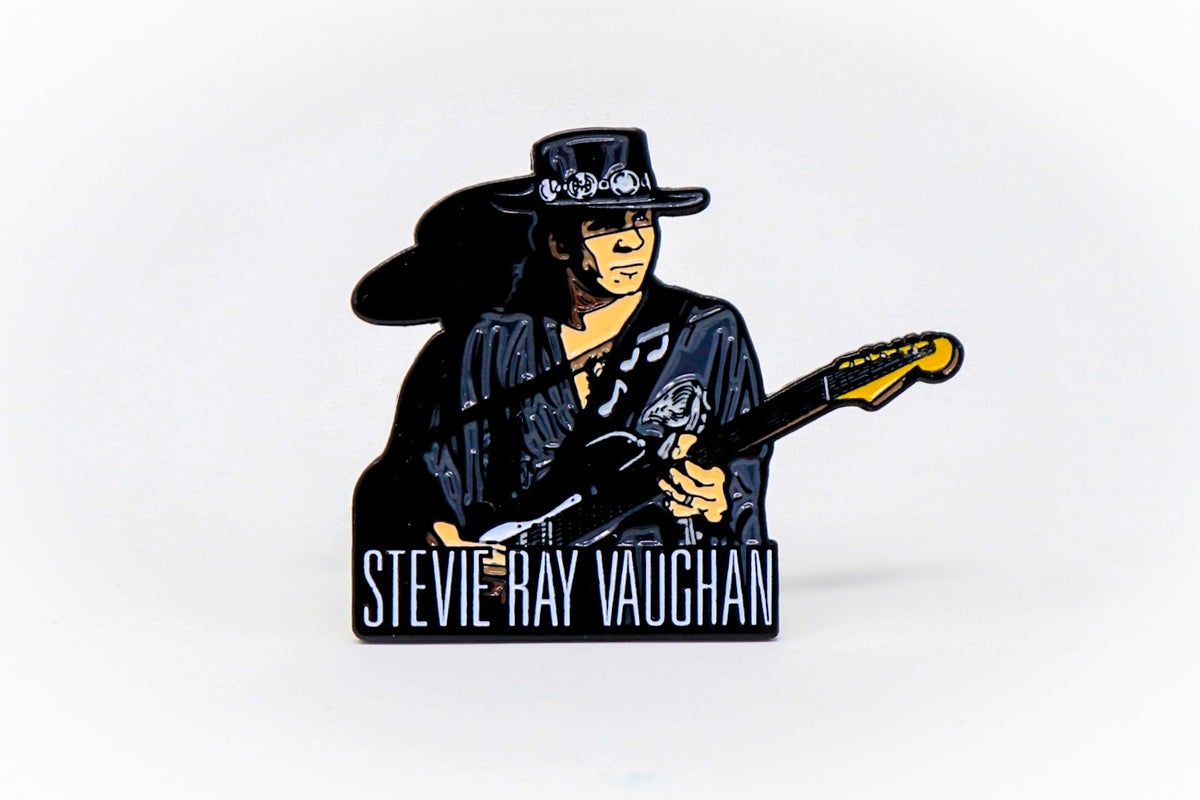 Image of Stevie Ray Vaughan Enamel Pin