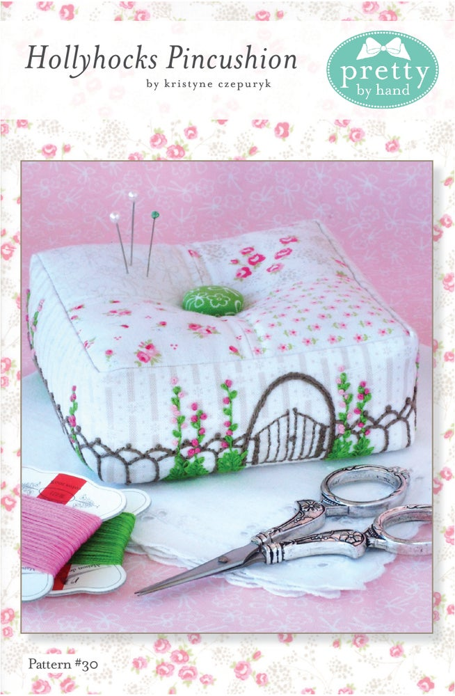 Image of Hollyhocks Pincushion Pattern - PDF ONLY