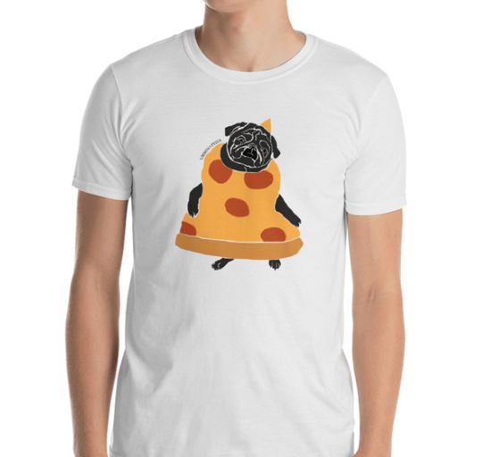 Image of Pizza Pug T-Shirt