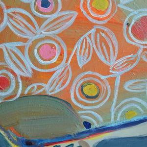 Image of Contemporary Still Life, 'The Orange Fan,' Poppy Ellis