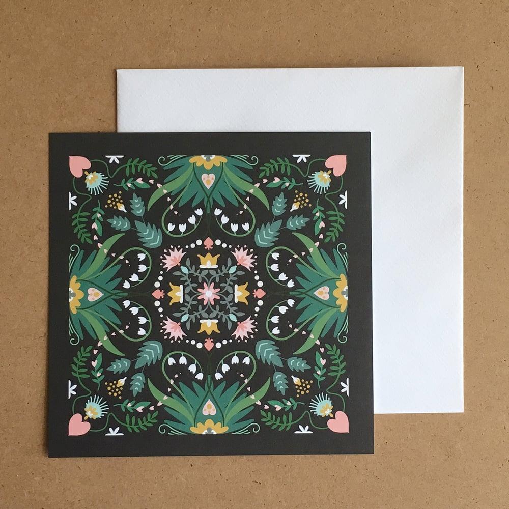 "Image of Carte carrée ""Jardin botanique"""