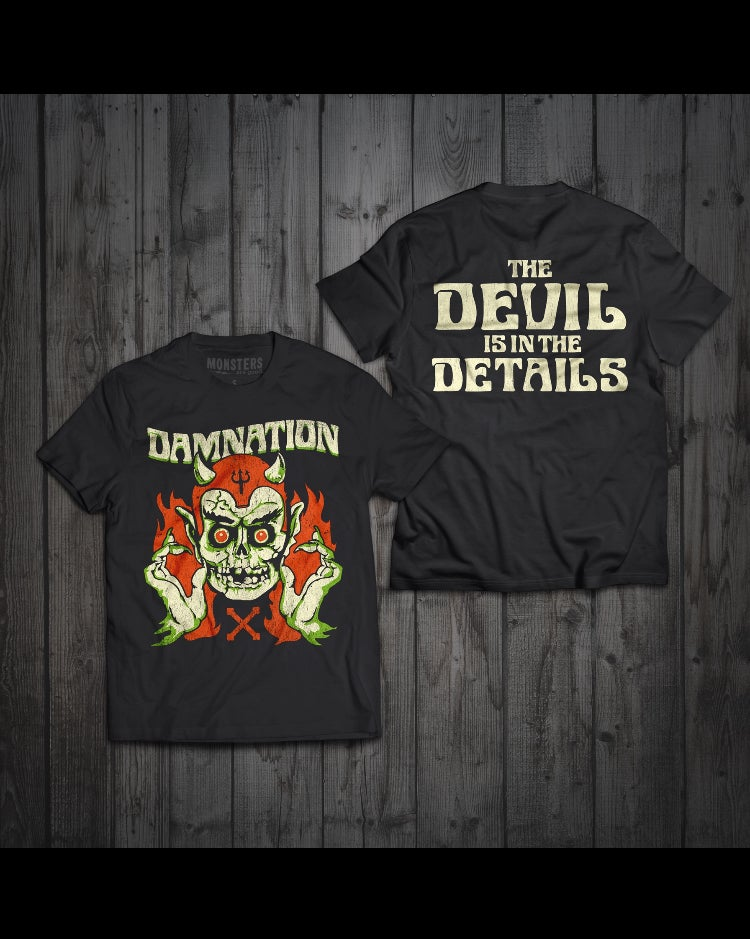 """Image of 2018 limited edition """"Devil in the Details""""Halloween tshirt"""