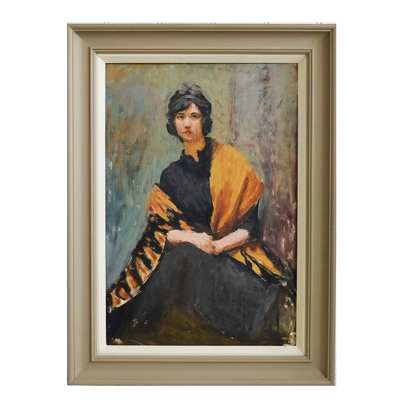 Image of Portrait of a Woman in a Yellow Shawl, Mary Beresford Williams