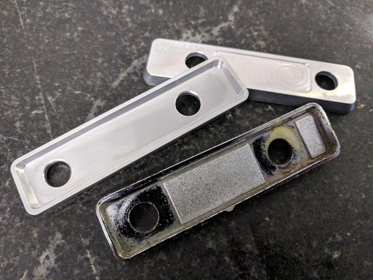 510 headlight/wiper trim plate CNC aluminum