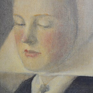 Image of Large, 1909, Oil on Canvas, 'Hoysen's Maria aged 16'