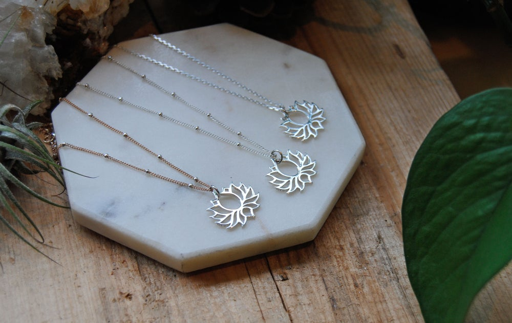 Image of Lotus Cut-Out Necklace