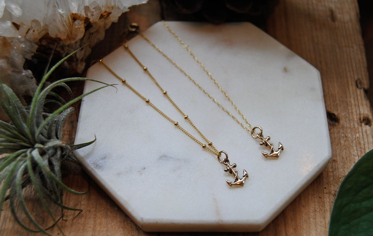Image of Petite Gold & Silver Anchor