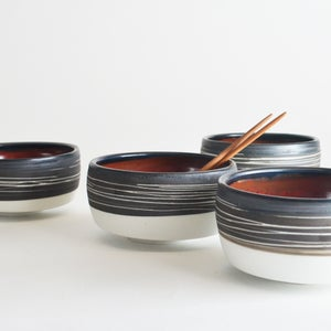 Image of Black and Red Tea Bowl