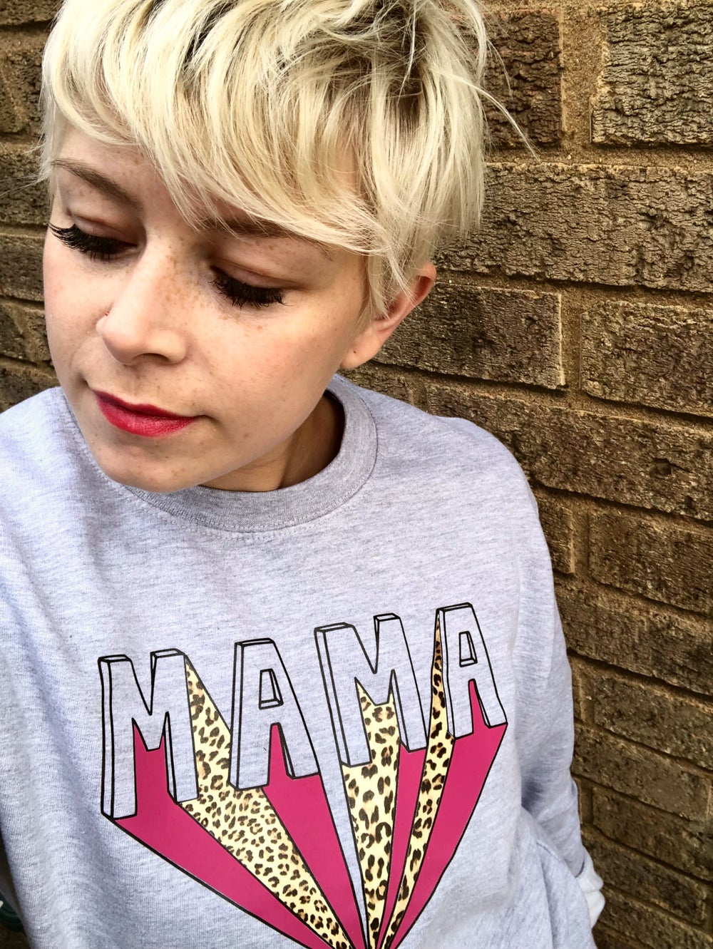 "Image of Leopard ""MAMA"" Flash sweater"