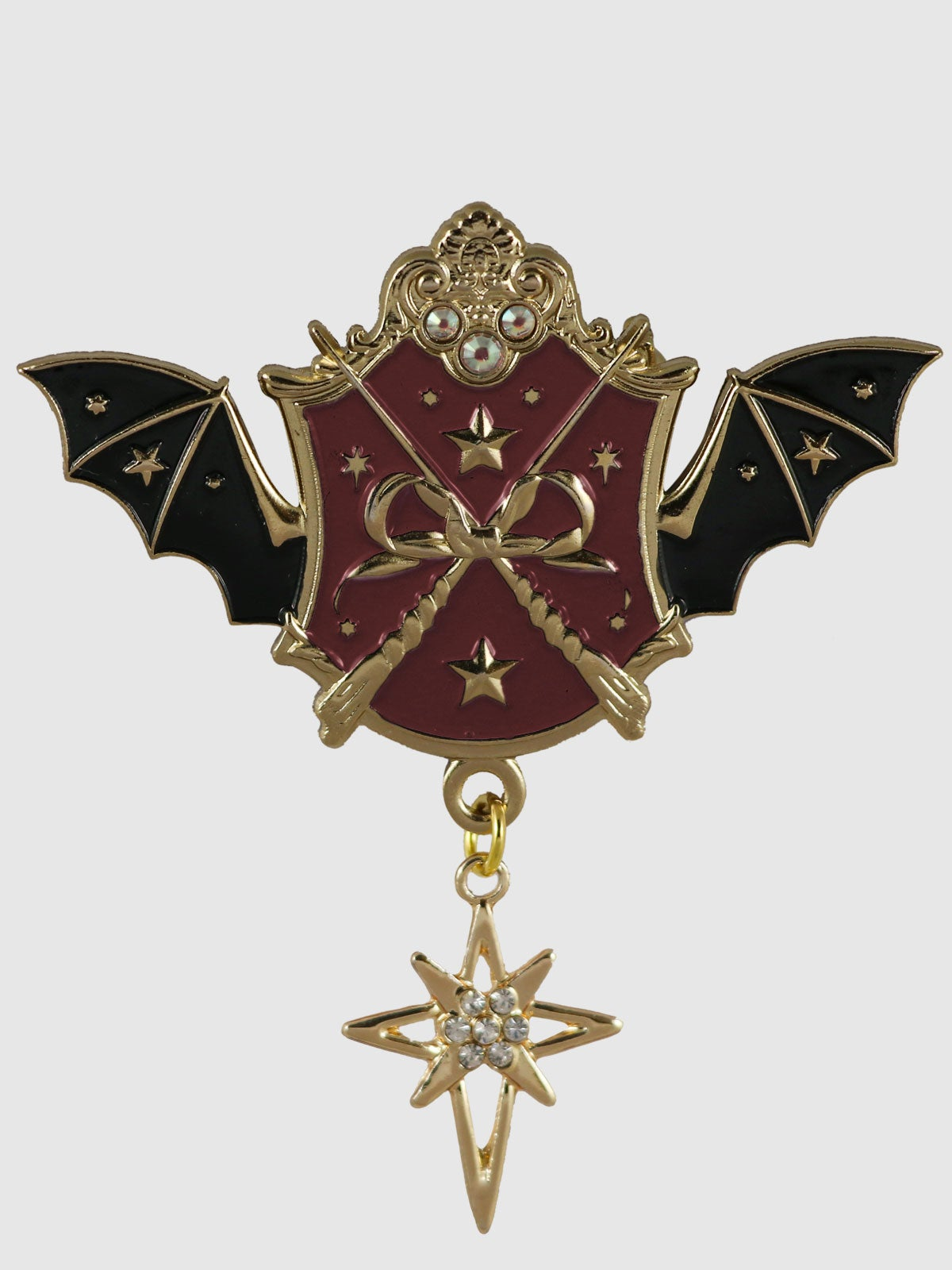 Image of Witch Academy Brooch • Wine