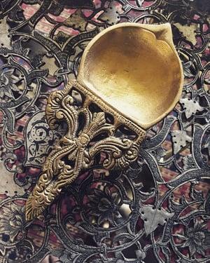 Image of Flat Brass Diya