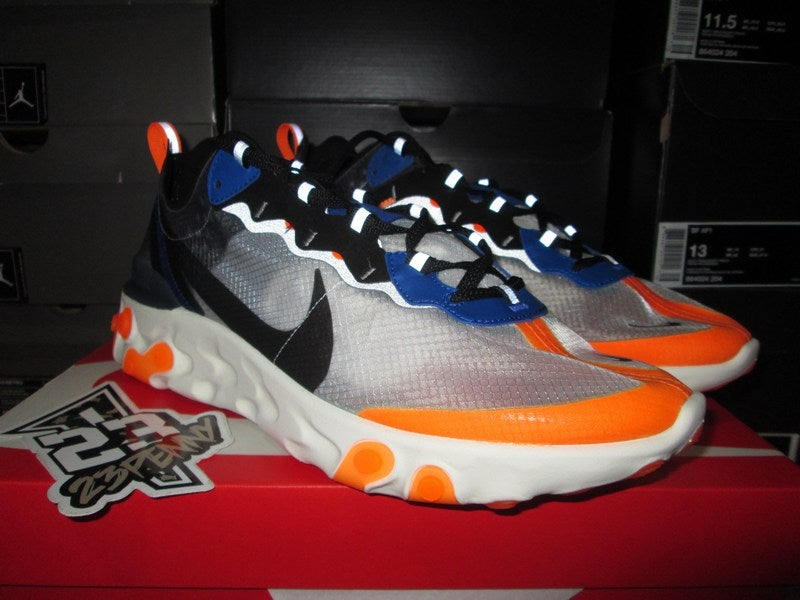 "Image of Nike React Element 87 ""Wolf Grey/Thunder Blue"""