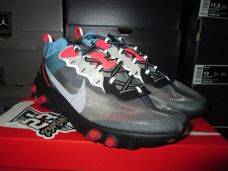 "Image of Nike React Element 87 ""Blk/Blue Chill"""