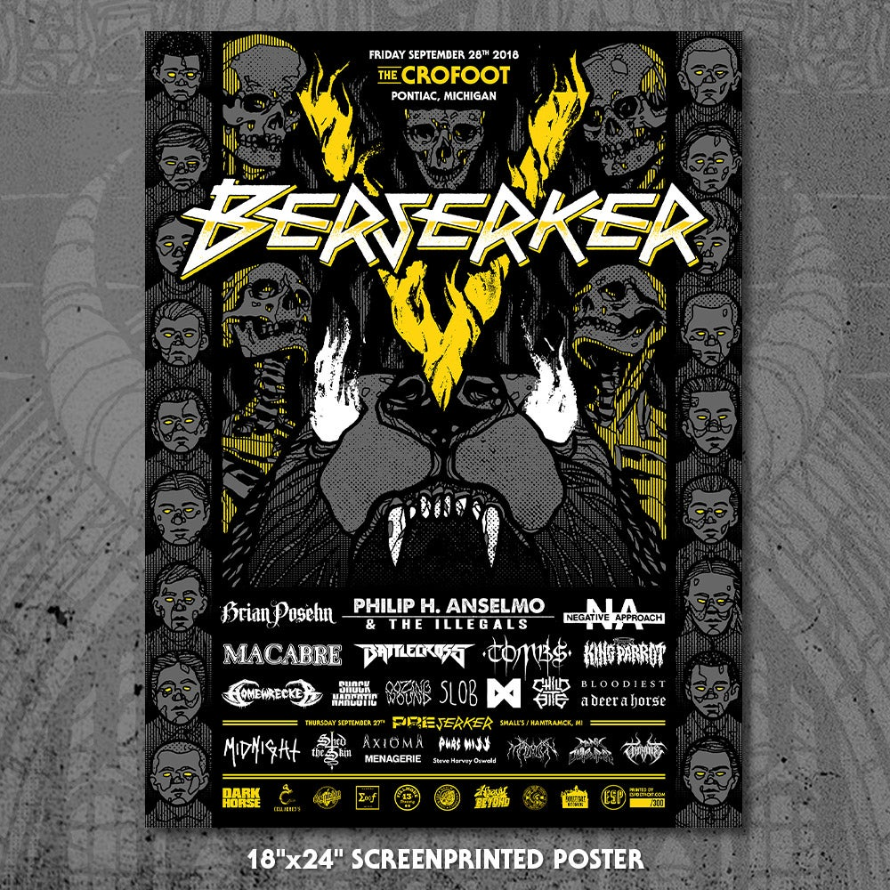 Image of Berserker V Screen-Printed Poster