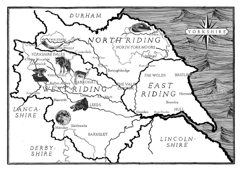 Image of Yorkshire Map