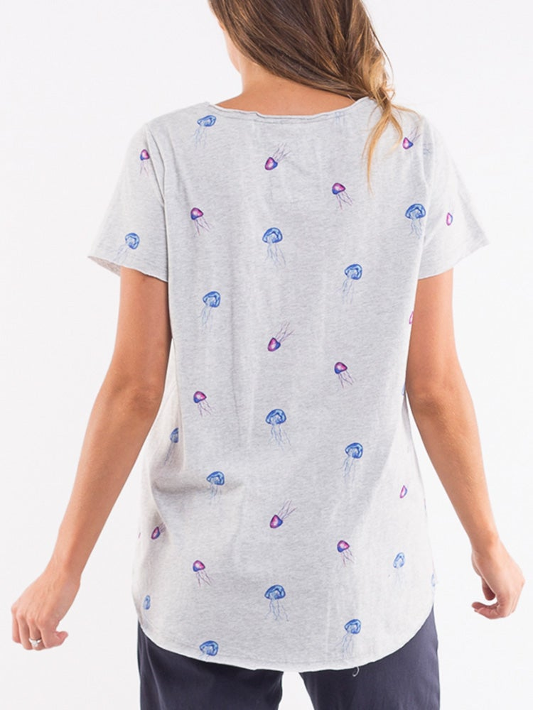 Image of ELM Watercoloured Jelly Fish Tee
