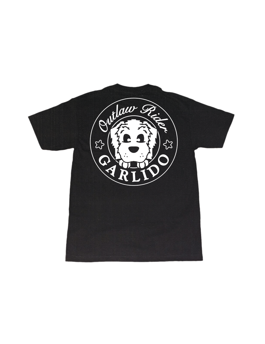 Image of 'outlaw rider' t-shirt (black)